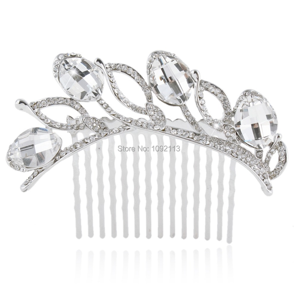 Bella Fashion Jewelry Luxury Bridal Hair Comb Leaves Hairpin Austrian Crystal Wedding Accessories For Bridesmaid Women(China (Mainland))