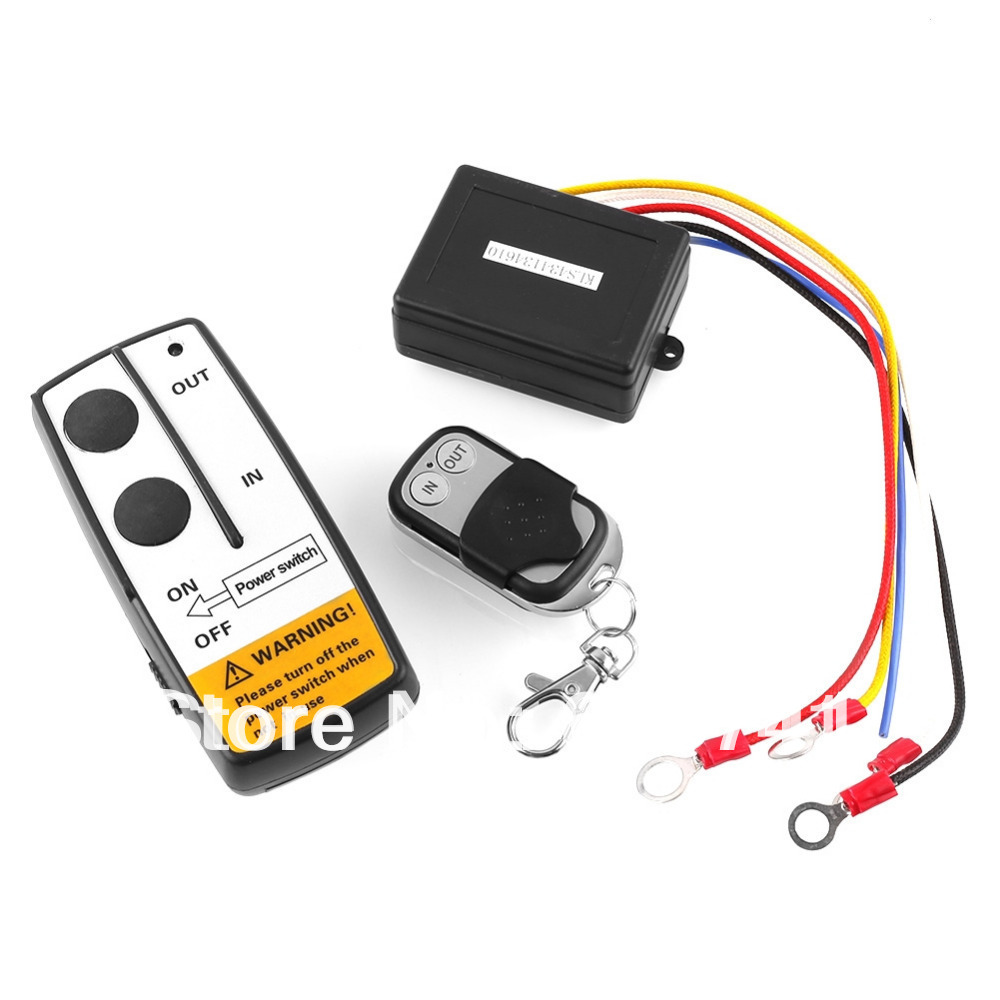 WIRELESS REMOTE CONTROL KIT FOR TRUCK JEEP or ATV WINCH Dual Remote 12V Free Shipping(China (Mainland))