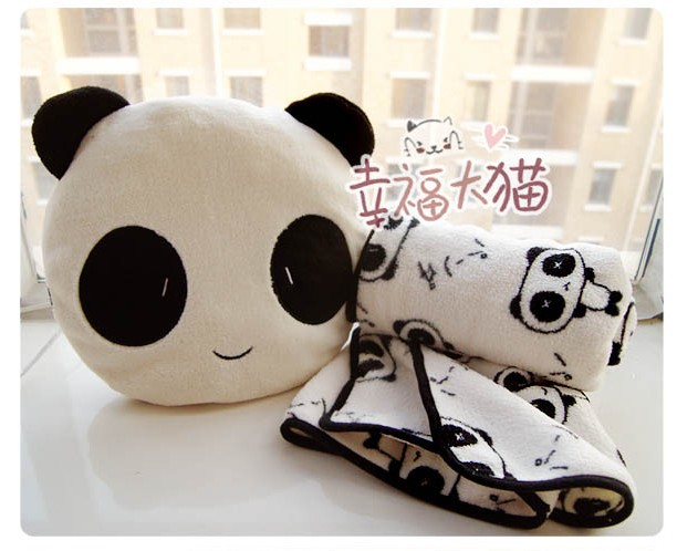 30cm super cute plush panda toy doll, stuffed pillow/cushion blanket inside, birthday gift girls, 1pc - Alex's gifts & crafts store