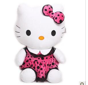 2015 Hot Gift hello kitty plush doll animal soft toy best price stuffed doll 50cm super size(China (Mainland))