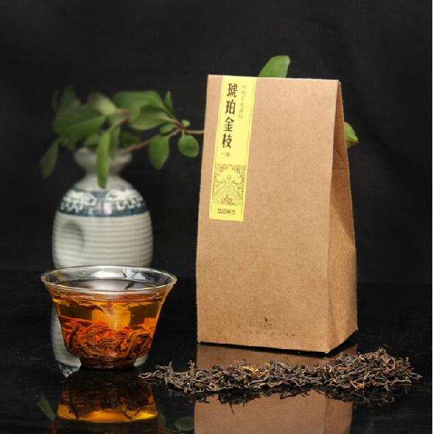 Freeshipping 100 Quality Guarantee LIUDAN Black tea 100g piece Class 1 Dian Hong Tea Yunnan Black
