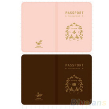 Travel Utility Simple Passport ID Card Cover Holder Case Protector Skin PVC 01WE 4B9P