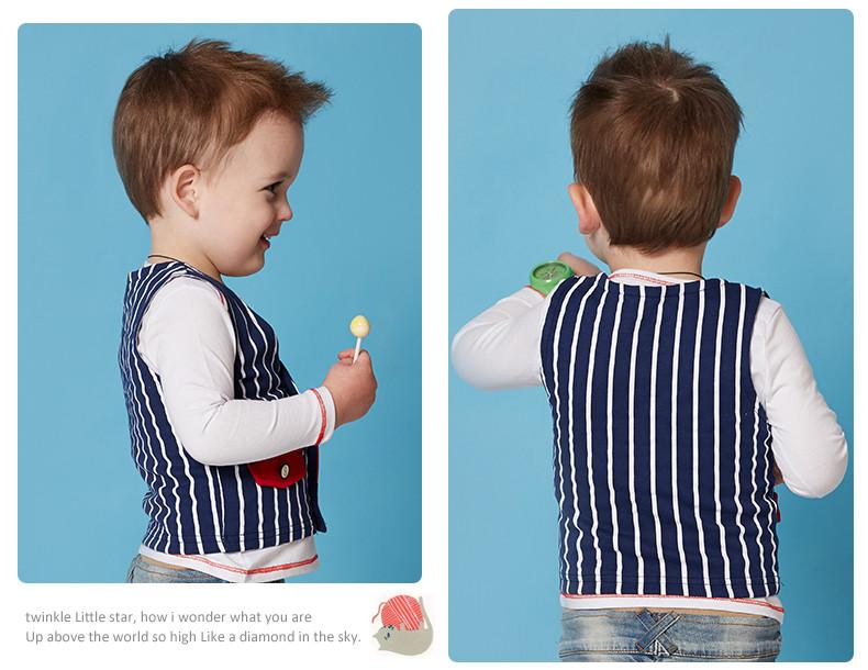 Скидки на 2016 весна осень детские пальто 100% хлопок дизайн одежды мальчики жилет дети жилет детская одежда жилет