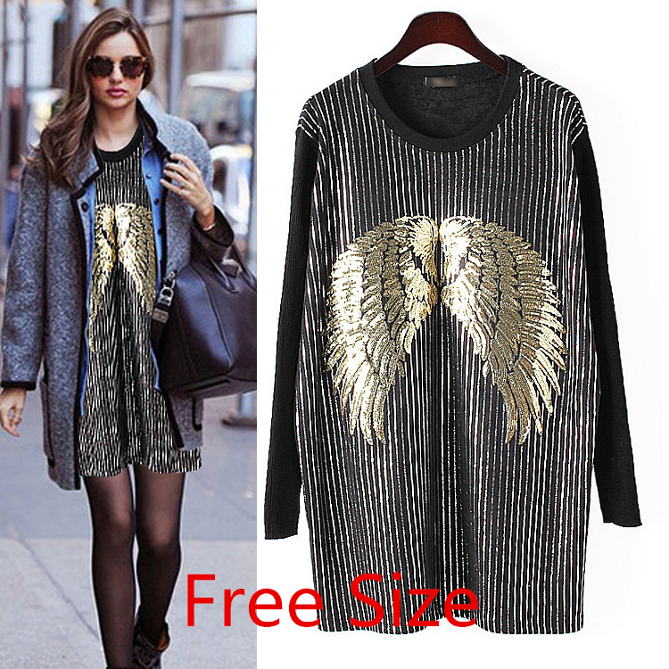Punk Sweater Dress Punk Sequined Swing Sweaters