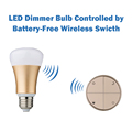 Battery free Wireless Switch and Hignt Quality LED Bulb Convenient Dimming Kit Ever Easy Install Energy