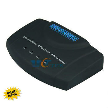 USB 2.0 Lan Network Attached Storage NAS FTP UPnP DLNA DDNS Samba Print BT Client Singapore Post Free Shipping