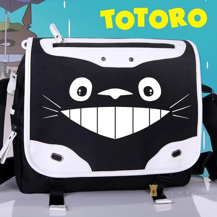 Cartoon Cosplay Students SchoolBag TOTORO Shoulder Bag Satchel Unisex Oxford Durable Traveling Messenger Bags