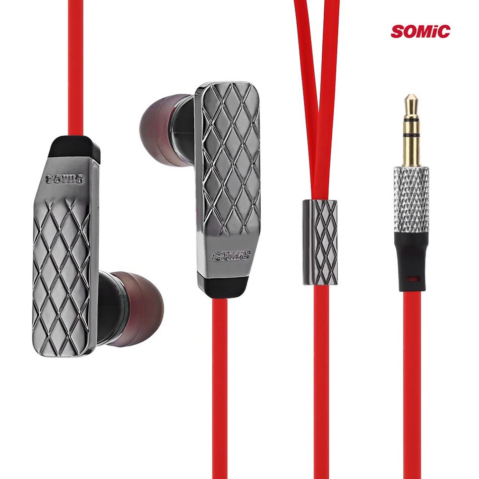 Hot Sale Somic L2 HiFi Dynamic Mic Support Hands-free Calling Song Switch Portable Media Player Answering Phone In-ear Earphones(China (Mainland))