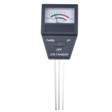 2 in 1 Fertile Soil pH Tester Meter High Precision Soil ph Test Equipment(China (Mainland))