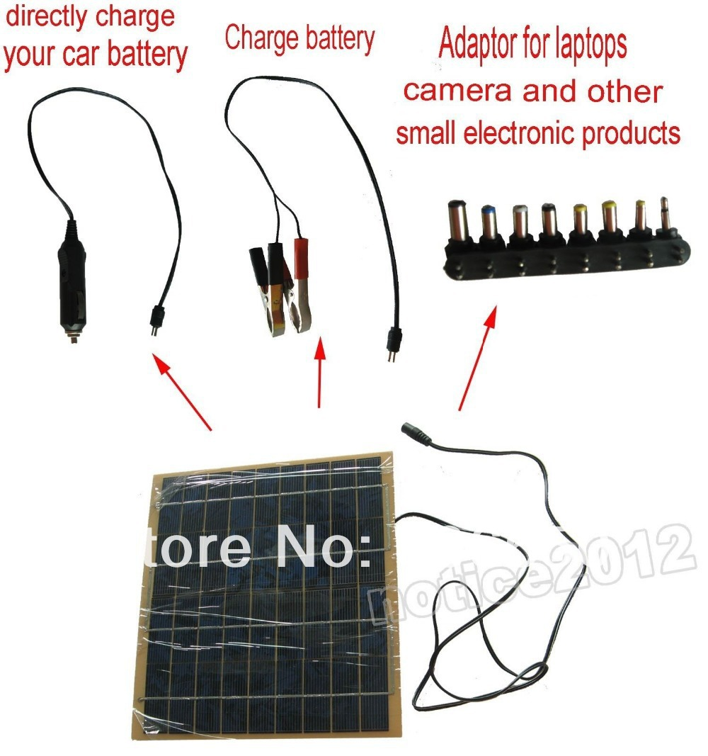 brand) Portable multi-funtional solar charger 5W watt 12V solar panel charge battery,free shipping(China (Mainland))