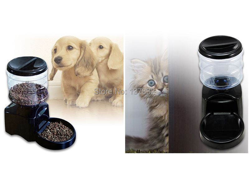 NEW Automatic Pet Dog Cat Feeder Bowl Auto Food Dispenser 5L Large Programmable(China (Mainland))