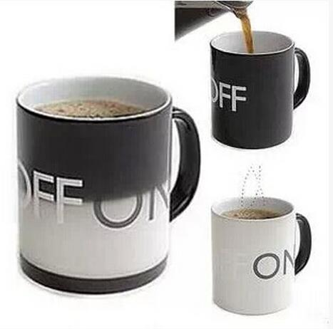 Hot Sale OFF-ON Changing Mug Magical Chameleon Coffee Cup Temperature Sensing Novelty Gift 330ml(China (Mainland))