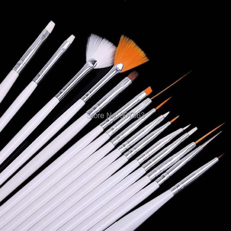 1Nail Design Brushes, Nail Art Gel Brush Kit Personal Use,Professional Paint Tools, ! - Beauty Trading store
