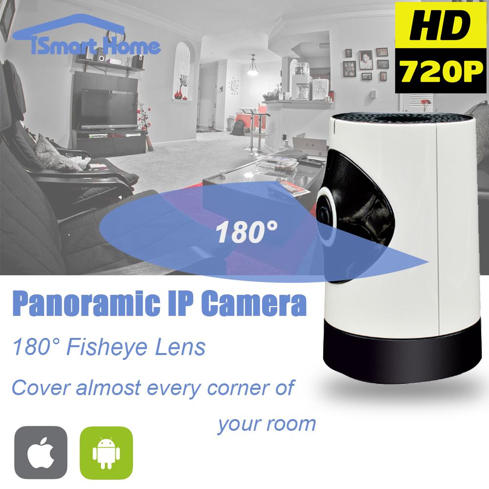 Fisheye IP Camera wi-fi 180 Degree Wireless WIFI Onvif Panoramic Camara Night Vision Security CCTV Cam 360 View P2P Telecamera(China (Mainland))