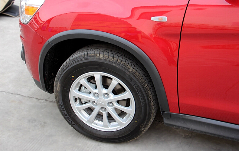 Здесь можно купить  A Set(16pcs) Wheel Well Arch Lip Fender Flares For Mitsubishi ASX ,free shipping A Set(16pcs) Wheel Well Arch Lip Fender Flares For Mitsubishi ASX ,free shipping Автомобили и Мотоциклы
