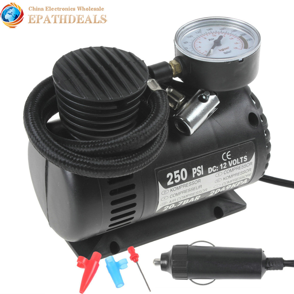 Mini Portable 12V 250PSI Electric Pump Air Compressor Tire Inflator Motorcycles / Electromobile Canoeing Bike Tyre - LoveCar Store store