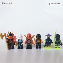 6pcs/lot NEW 2017 Movie Ninjagoes Lloyd Kai Cole Jay Nya Zane WU Kit Mini Toys Compatible legoes 71019 fig Building Blocks Kids(China)