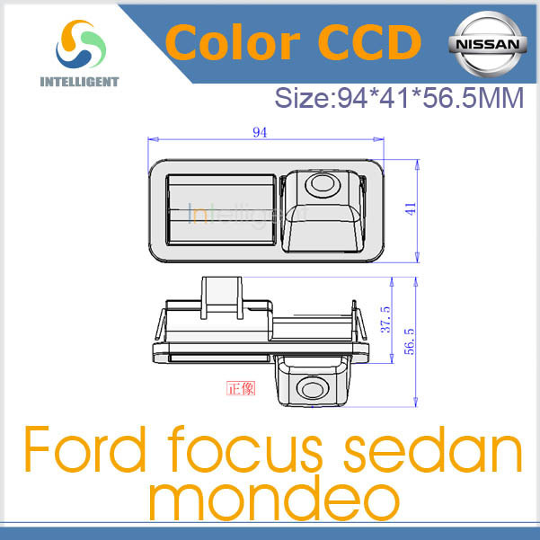 Free shipping Car rear view Camera For Ford Focus sedan Mondeo CCD night vision Car Camera install on Car Trunk/boot lock slot