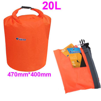 2pcs/lot 20L Waterproof Bag Dry Bag for Canoe Kayak Rafting Camping Outdoor Sports Wholesale