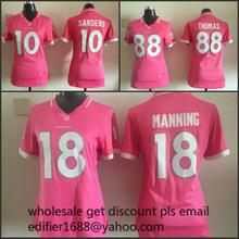 100% stitched women Denver Broncos ladies 18 Peyton Manning 58 Von Miller 88 Demaryius Thomas 87 Eric Decker 80 thomas(China (Mainland))