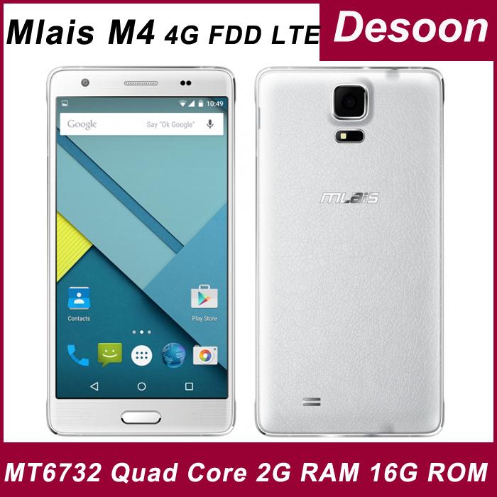 Original Mlais M4 2G RAM 16G ROM 4G FDD LTE Android 5.0 Cell Phone MTK6732 Quad Core 64bit 13.0MP Double Camera 5.5'/Koccis(China (Mainland))