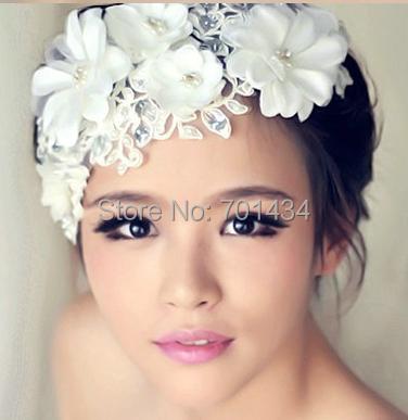 Women Girl Bride Boho Flower Headband Festival Wedding Floral Garland Hair Band Headwear accessories wholesale Head band hair(China (Mainland))