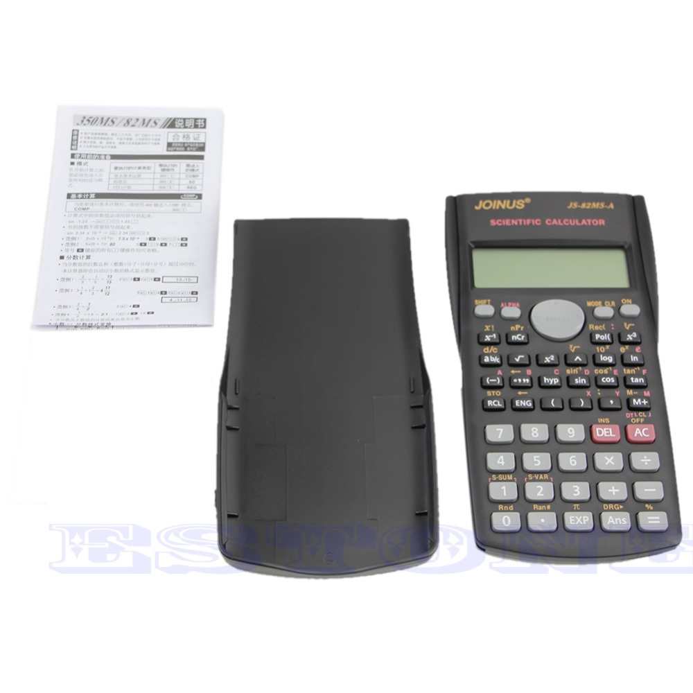For 82MS-A Handheld Multi-function Display Digital LCD 2-Line Scientific Calculator<br><br>Aliexpress