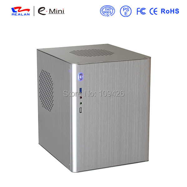 Economical Aluminum Cube Mini-ITX and Micro ATX PC Case E-D5(China (Mainland))