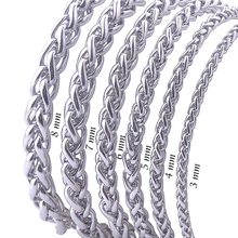 Buy Free Stainless Steel Men Necklace Chain 3 4 5 6 7 8MM Link Chain Men Necklaces High Never Fade for $2.08 in AliExpress store