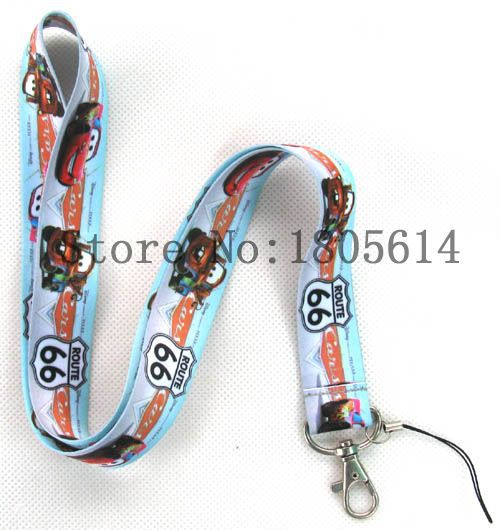 Lot 10pcs Anime Cartoon Cars Designed LANYARD For Key Card ID Chain Neck Straps Party Gifts #I076(China (Mainland))