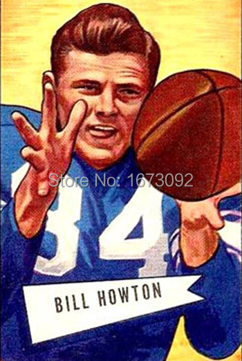 Billy Howton Red Fox Original Football Rice University OIL PAINTING ON CANVAS Hand Painted by Artist Fast Free Shipping(China (Mainland))