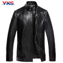YXS-5PY38 2015 Fashion Men'S Brand New Winter Slim Leather Motorcycle Jacket Collar Casual Leather Men'S Leather Jacket Zipper(China (Mainland))