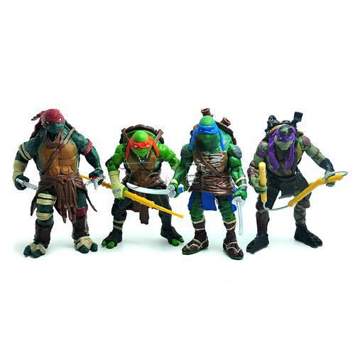 Movie TMNT Teenage Mutant Ninja Turtles Set 9cm Action Figure PVC Models Dolls Toys Collectible - Toyben Mall store