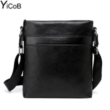 Buy YiCoB Brand Bag Men Casual Business PU Leather Messenger Bags Shoulder Bags iPad Boy Travel Man Crossbody Bags Male 2017 HOT for $8.99 in AliExpress store