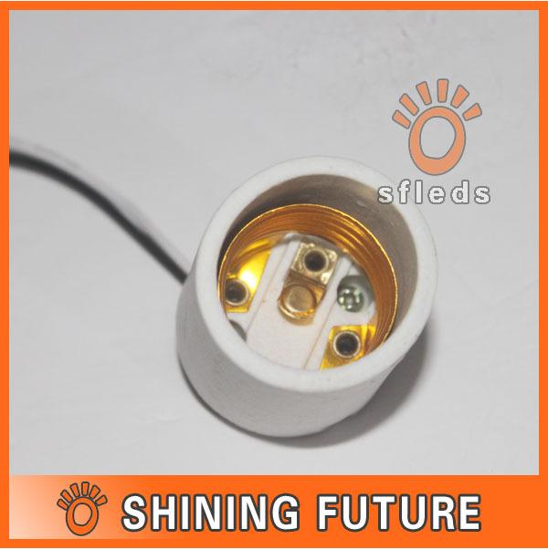5 x Ceramic LED Lampe Base E27 Lamp Holder for Light Bulb E27 Socket Ceramic Base Ceiling Mounted Lamp Socket(China (Mainland))