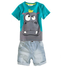 baby Boys clothing shorts Summer cartoon Sets Boys 2015 casual Brand Clothing Set Kid Apparel T