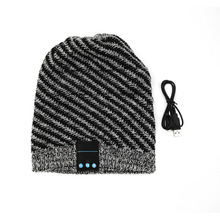 Fashion Unique Soft Warm Hat Wireless Bluetooth Music Knit Hat with Handsfree Smart Cap Headset For Phones(China (Mainland))