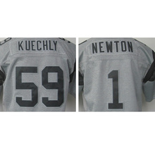 hot sale Cheap Men's 1# Cam Newton 100% Stitched Logos #59 Luke Kuechly Gray Gridiron Gray Limited High quality fast shipping(China (Mainland))
