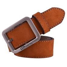 Brand New Boys Mens Casual Waistband Leather Metal Pin Buckle Belt Male cinto masculino Suede Leather Waist Belts Waistband A27