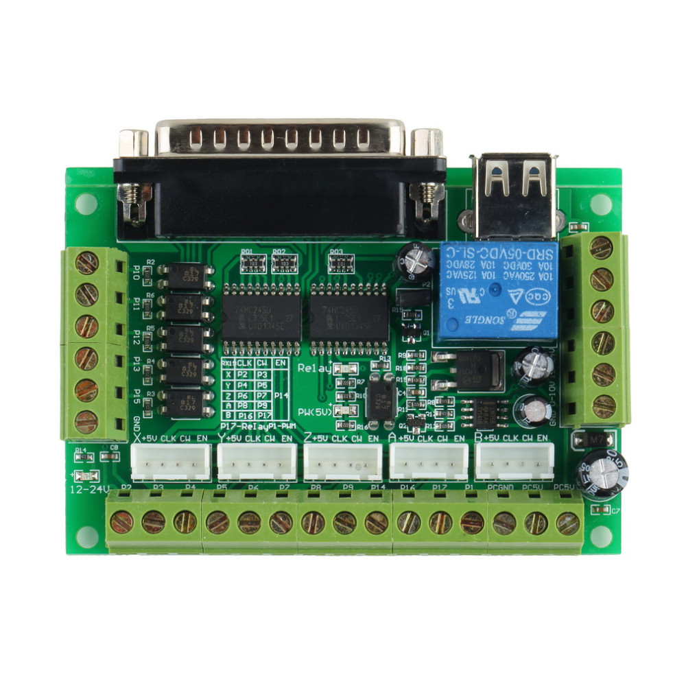 image for Hot Worldwide 5 Axis Interface CNC Breakout Board For Stepper Motor Dr