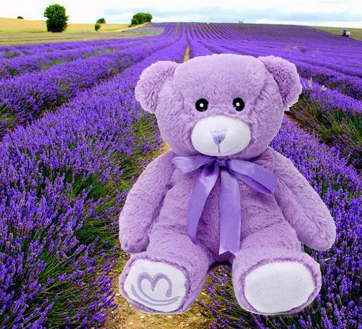 15cm One Piece New Purple Lavender Teddy Bear Stuffed Plush Animal Toys Birthday Gift Filled PP Cotton(China (Mainland))
