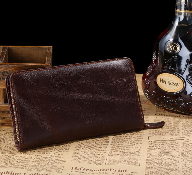 2015 High Quality Vintage Genuine Leather Men Clutch Bag Handbags Fashion big capacity day clutch wallets card holder #VP-J8022<br><br>Aliexpress