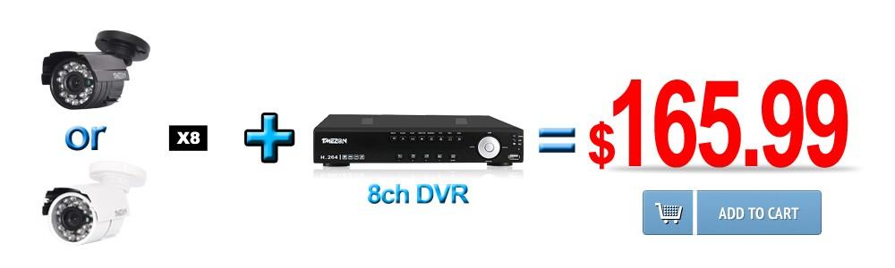 Tmezon HD 800TVL 900TVL 1200TVL Camera Home Security Surveillance CCTV System Outdoor Waterproof IR-Cut Night Vision 24 Led Cam