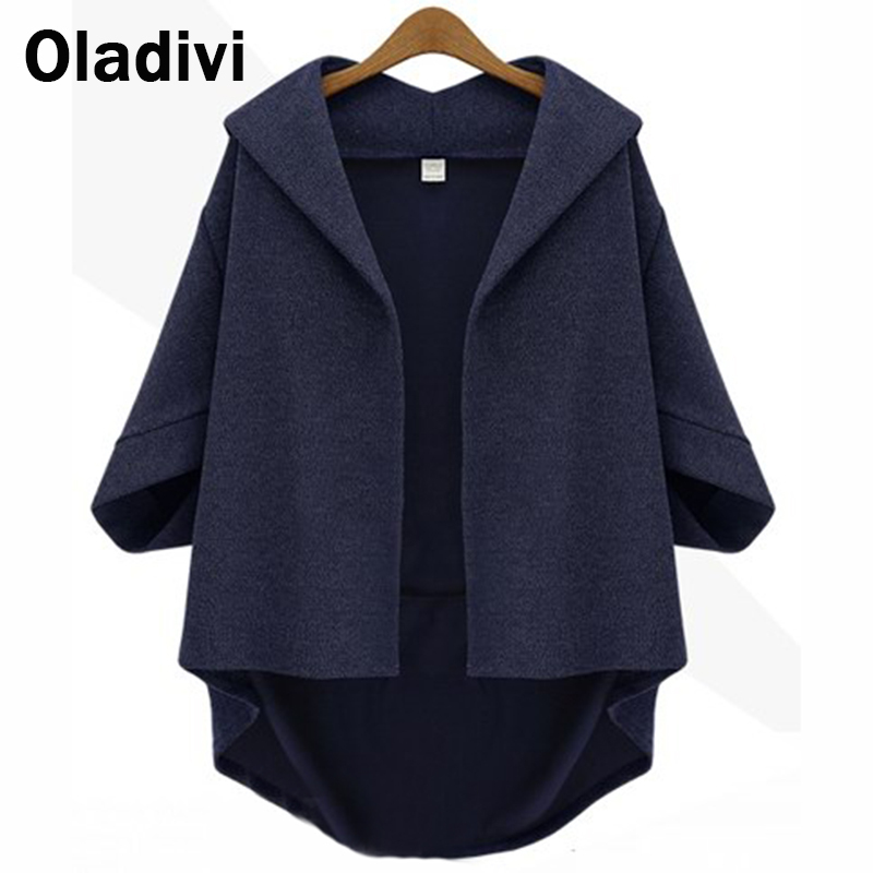 XXXXL Plus Size Women's Clothing 2016 Spring Autumn Coat Loose Bat Sleeve Female Jacket Women Cardigan Ladies Top Outerwear - Oladivi official store