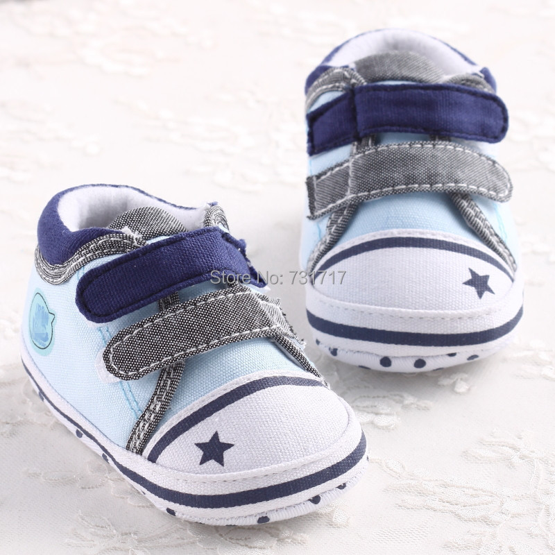 Star Baby boy girl shoes infant toddler cirb sneakers 1-18 months 3 sizes
