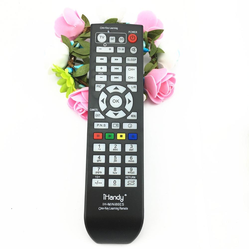 Universal Learning Remote Control one key copy For TV/SAT/DVD/CBL/DVB-T/AUX 1PCS ih-mini86es Combinational mini86s(China (Mainland))
