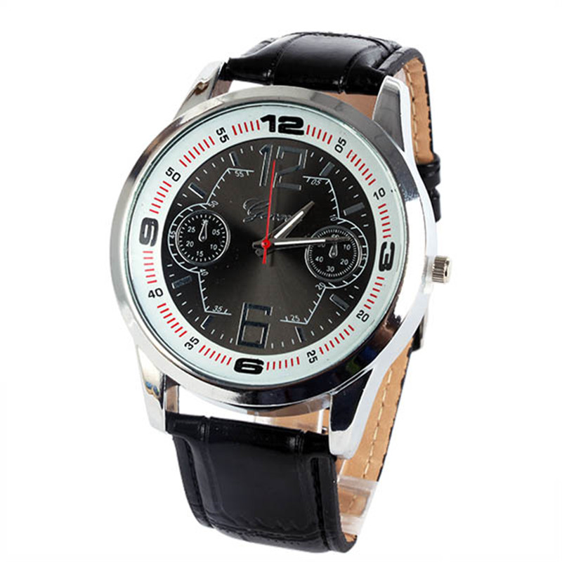 stylish new luxury leather analog quartz unisex mens vogue