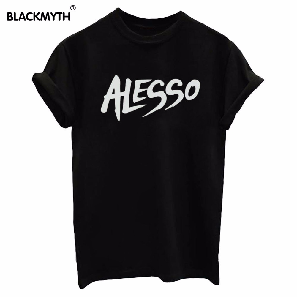 Alesso women summer top letters print t shirt funny top for Single print t shirt