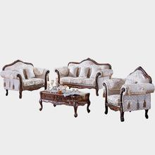 American Neoclassical Retro living room Sofa Fabric Sofa 1 + 3 + Royal Continental Sofa combination(China (Mainland))