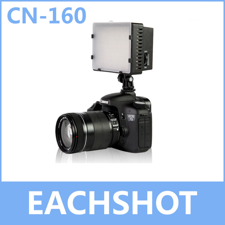 Nanguang CN-160, CN 160 LED Video Camera Light DV Camcorder Photo Lighting 5400K Canon Nikon - EachShot Equipment Co.,Ltd. store